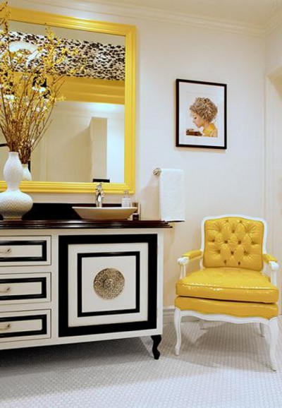 Try adding a bright, bold chair in an unexpected place.