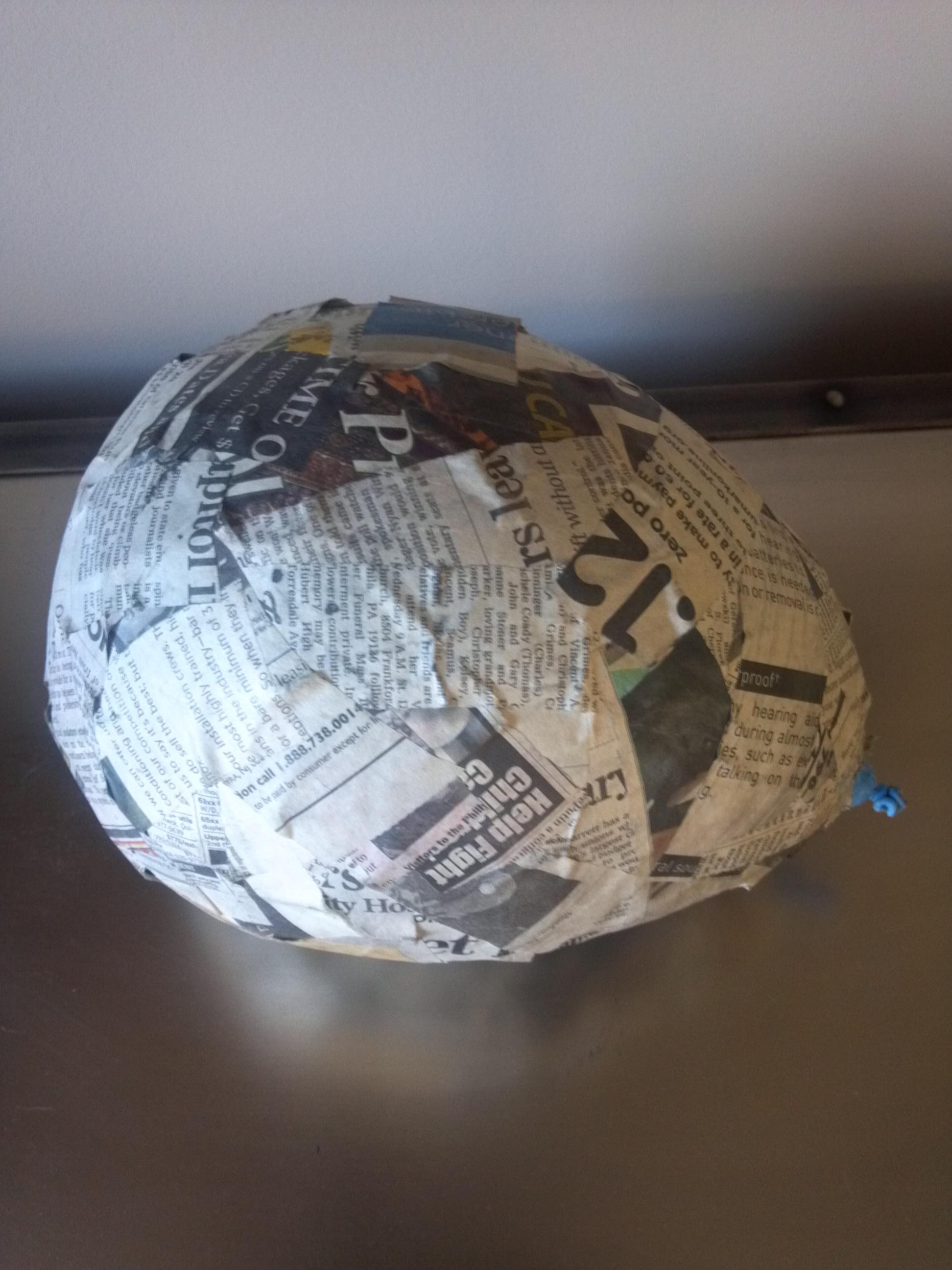 How to make big paper mache egg