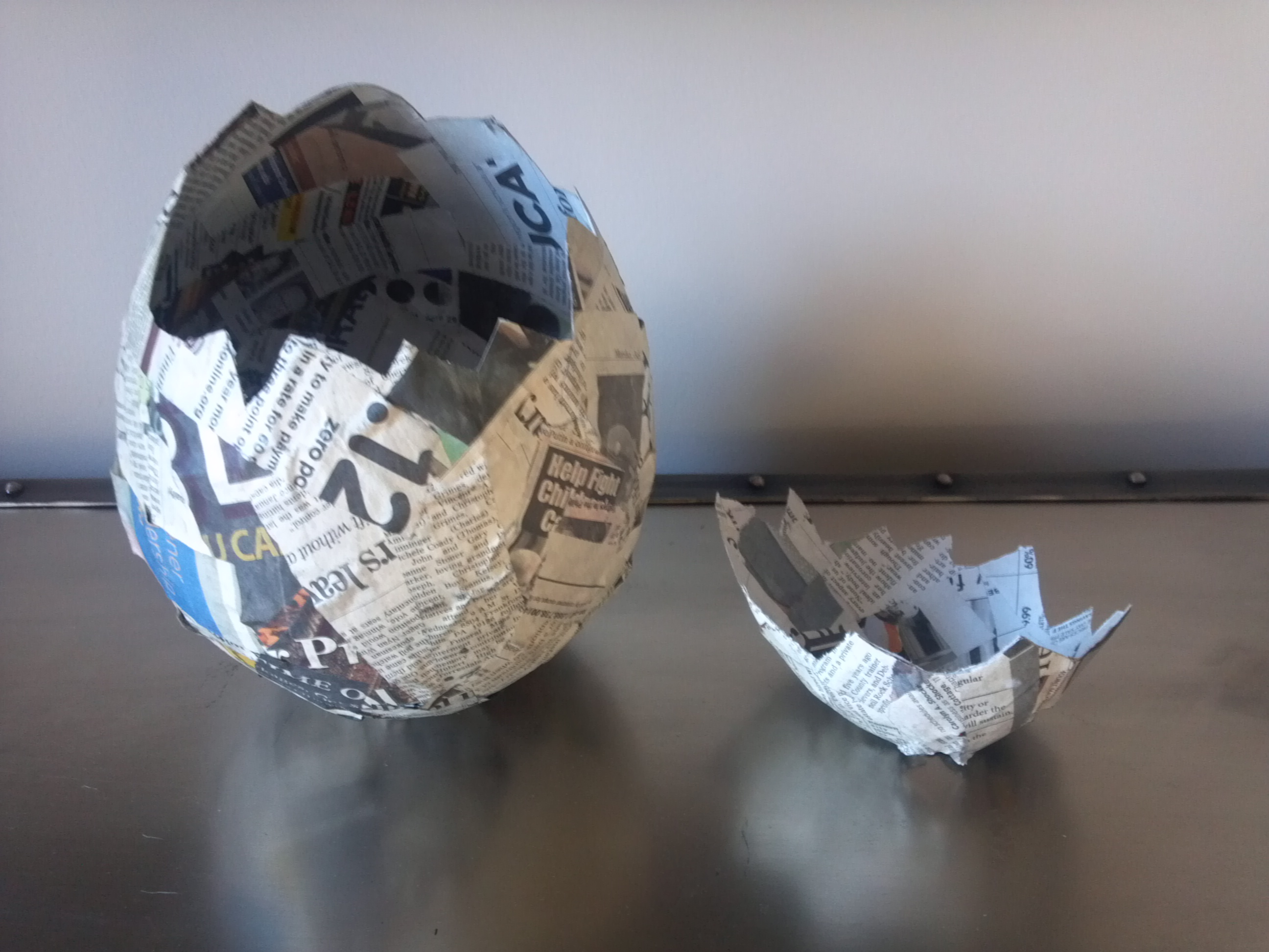 How to make a paper mache egg as seen on the nbc 10 show for How do you make paper mache glue at home