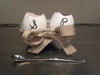 Eggshell Salt and Pepper Servers as seen on the NBC 10 Show and NBC Baltimore